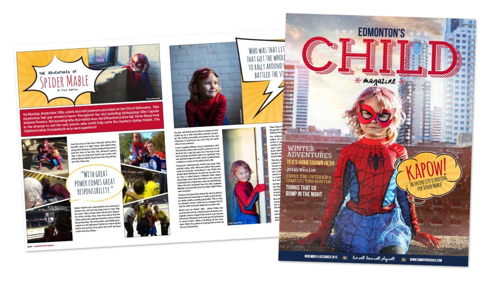 Edmonton's Child Magazine Design Photography