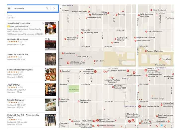 Edmonton google reviews