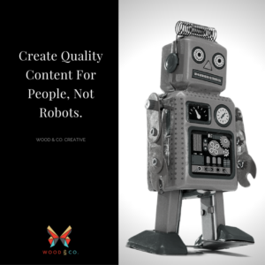 Create quality content for people