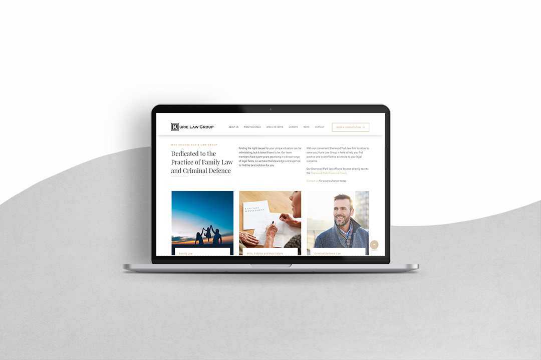 Kurie Law Group Website Design